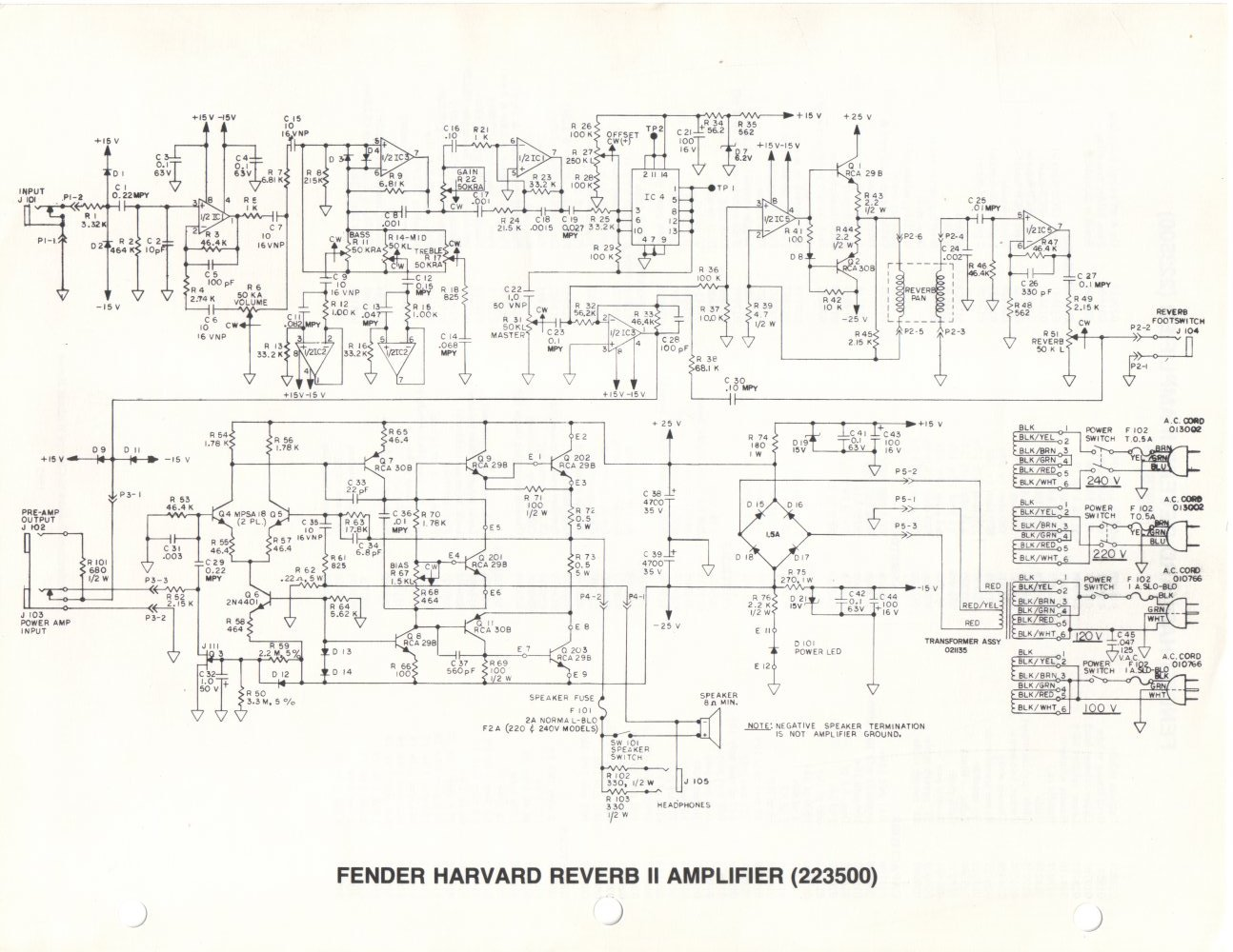 WRG-7799] Princeton Fender Amp Footswitch Wiring Diagrams